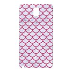SCALES1 WHITE MARBLE & PINK DENIM (R) Samsung Galaxy Note 3 N9005 Hardshell Back Case Front