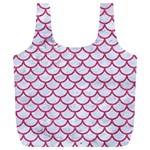 SCALES1 WHITE MARBLE & PINK DENIM (R) Full Print Recycle Bags (L)  Front