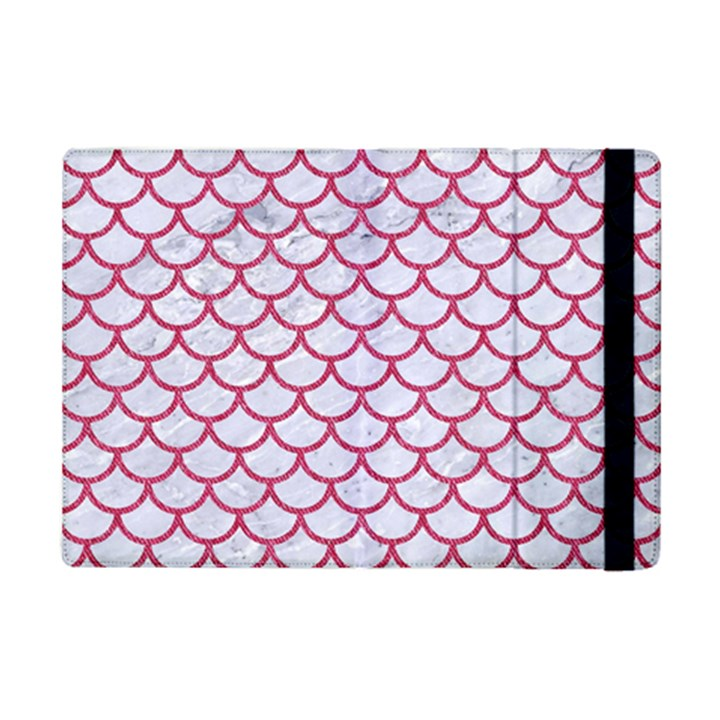 SCALES1 WHITE MARBLE & PINK DENIM (R) iPad Mini 2 Flip Cases