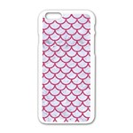 SCALES1 WHITE MARBLE & PINK DENIM (R) Apple iPhone 6/6S White Enamel Case Front