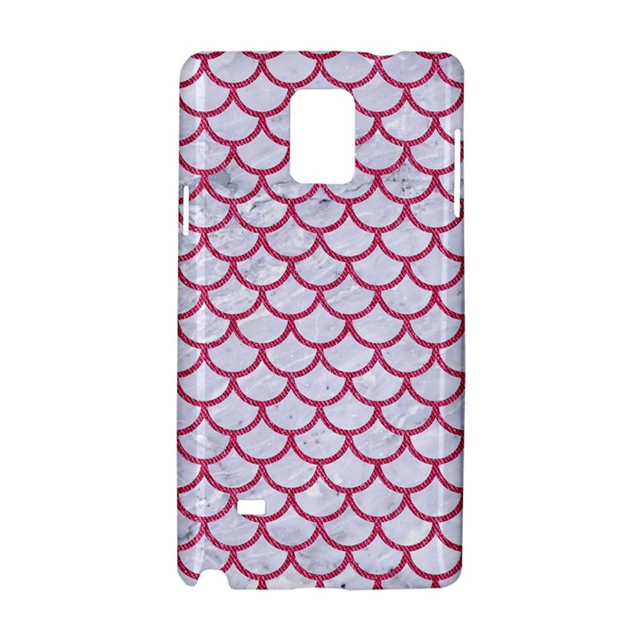 SCALES1 WHITE MARBLE & PINK DENIM (R) Samsung Galaxy Note 4 Hardshell Case