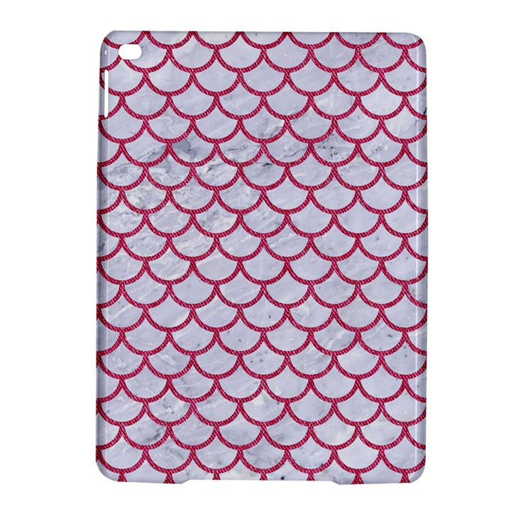 SCALES1 WHITE MARBLE & PINK DENIM (R) iPad Air 2 Hardshell Cases