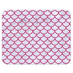 Scales1 White Marble & Pink Denim (r) Double Sided Flano Blanket (medium)