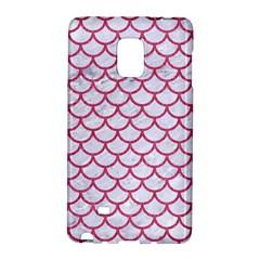 Scales1 White Marble & Pink Denim (r) Galaxy Note Edge by trendistuff