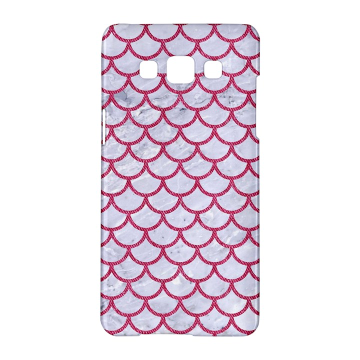 SCALES1 WHITE MARBLE & PINK DENIM (R) Samsung Galaxy A5 Hardshell Case
