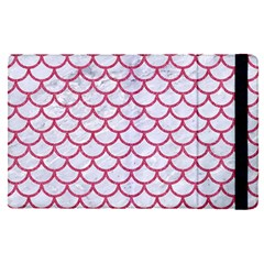 Scales1 White Marble & Pink Denim (r) Apple Ipad Pro 12 9   Flip Case