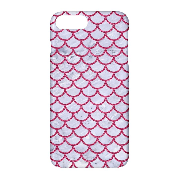 SCALES1 WHITE MARBLE & PINK DENIM (R) Apple iPhone 7 Plus Hardshell Case
