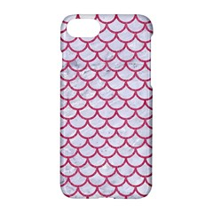 Scales1 White Marble & Pink Denim (r) Apple Iphone 7 Hardshell Case