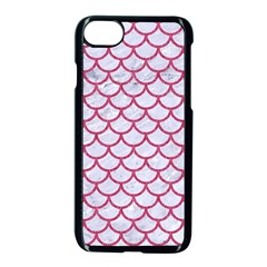 Scales1 White Marble & Pink Denim (r) Apple Iphone 7 Seamless Case (black)