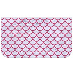 Scales1 White Marble & Pink Denim (r) Lunch Bag by trendistuff