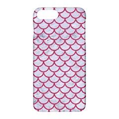 Scales1 White Marble & Pink Denim (r) Apple Iphone 8 Plus Hardshell Case