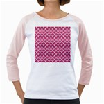 SCALES1 WHITE MARBLE & PINK DENIM Girly Raglans Front