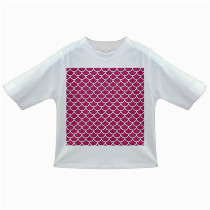 SCALES1 WHITE MARBLE & PINK DENIM Infant/Toddler T-Shirts