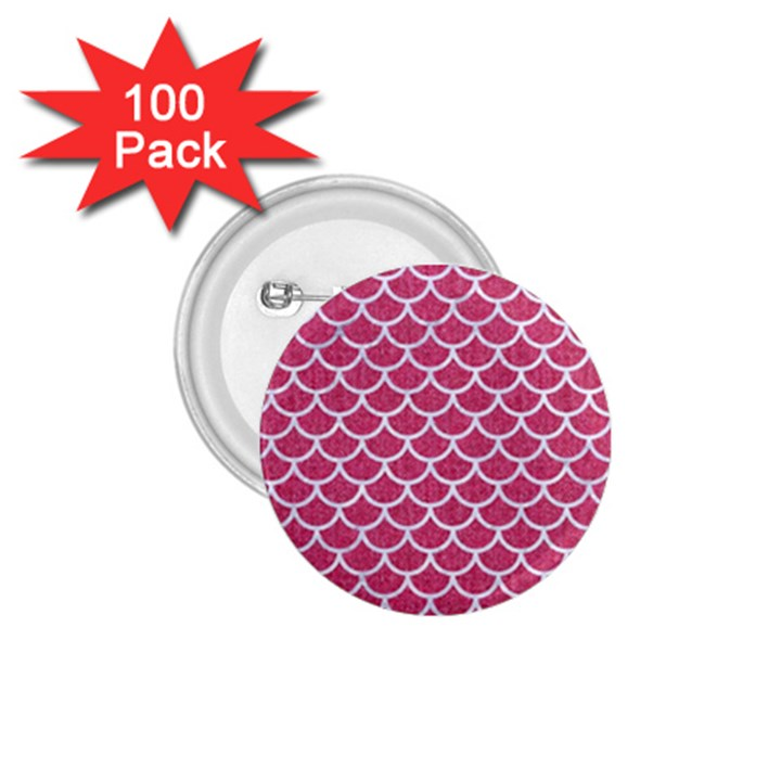 SCALES1 WHITE MARBLE & PINK DENIM 1.75  Buttons (100 pack)