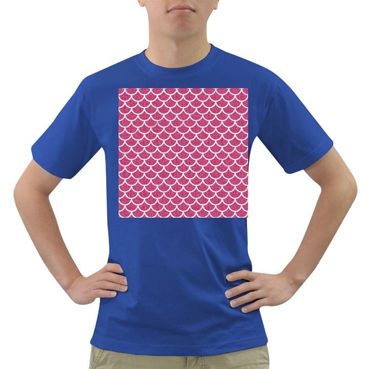 SCALES1 WHITE MARBLE & PINK DENIM Dark T-Shirt