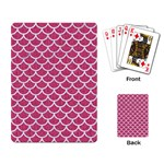 SCALES1 WHITE MARBLE & PINK DENIM Playing Card Back