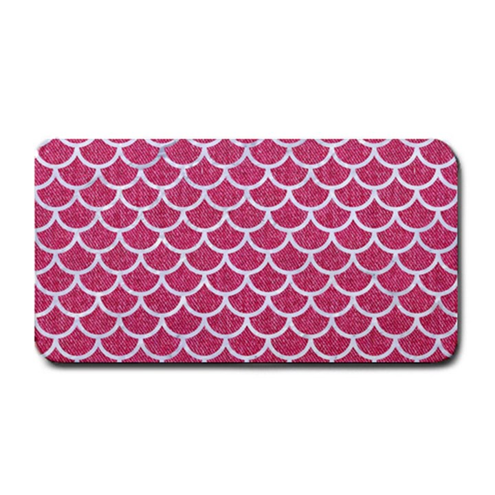 SCALES1 WHITE MARBLE & PINK DENIM Medium Bar Mats
