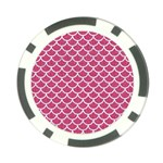SCALES1 WHITE MARBLE & PINK DENIM Poker Chip Card Guard Front