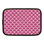 SCALES1 WHITE MARBLE & PINK DENIM Netbook Case (Medium)  Front