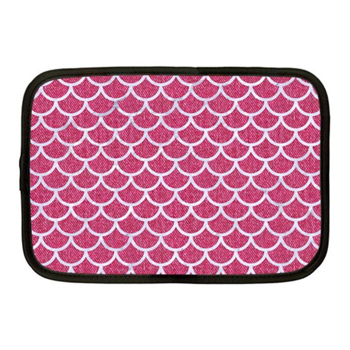 SCALES1 WHITE MARBLE & PINK DENIM Netbook Case (Medium)