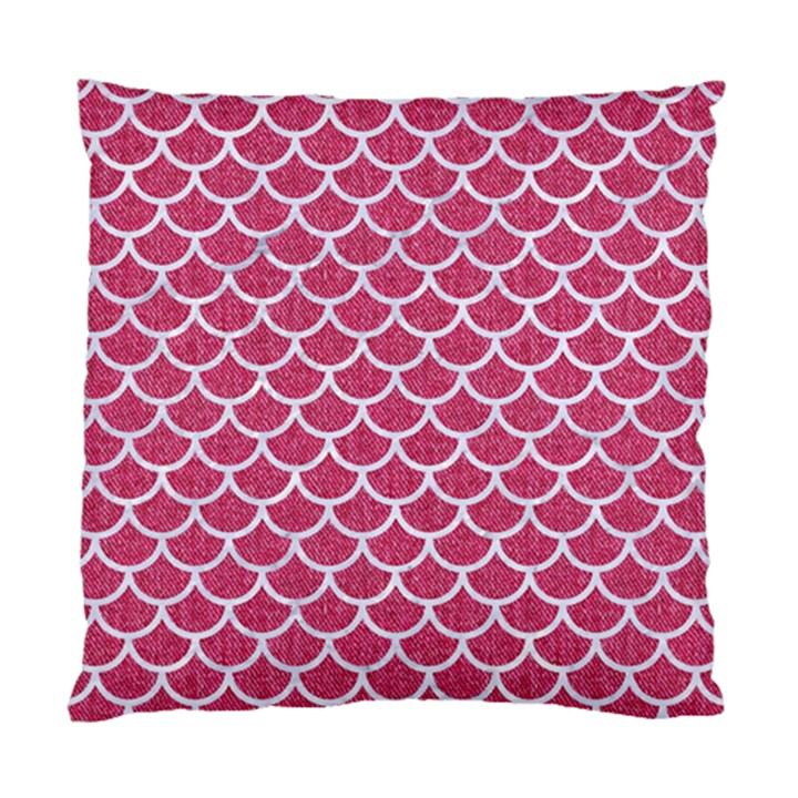 SCALES1 WHITE MARBLE & PINK DENIM Standard Cushion Case (Two Sides)