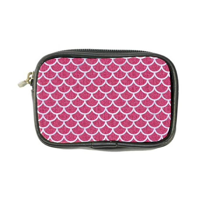 SCALES1 WHITE MARBLE & PINK DENIM Coin Purse