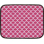 SCALES1 WHITE MARBLE & PINK DENIM Double Sided Fleece Blanket (Mini)  35 x27 Blanket Front