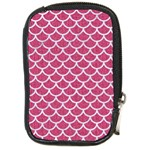 SCALES1 WHITE MARBLE & PINK DENIM Compact Camera Cases Front