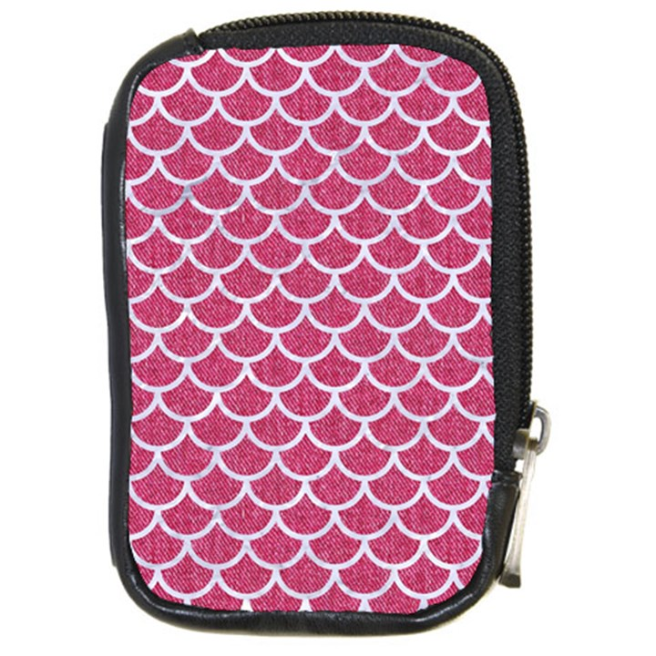 SCALES1 WHITE MARBLE & PINK DENIM Compact Camera Cases