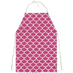 SCALES1 WHITE MARBLE & PINK DENIM Full Print Aprons Front