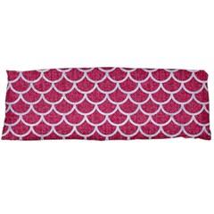Scales1 White Marble & Pink Denim Body Pillow Case (dakimakura) by trendistuff