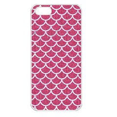 Scales1 White Marble & Pink Denim Apple Iphone 5 Seamless Case (white) by trendistuff