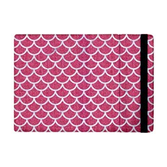 Scales1 White Marble & Pink Denim Apple Ipad Mini Flip Case