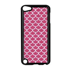 Scales1 White Marble & Pink Denim Apple Ipod Touch 5 Case (black)