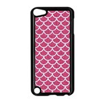 SCALES1 WHITE MARBLE & PINK DENIM Apple iPod Touch 5 Case (Black) Front