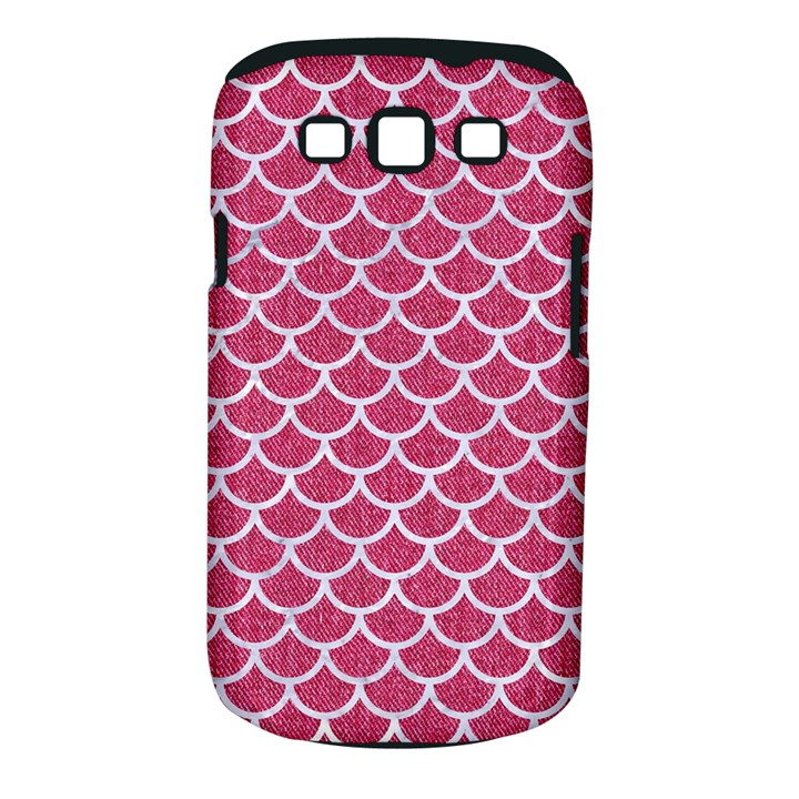 SCALES1 WHITE MARBLE & PINK DENIM Samsung Galaxy S III Classic Hardshell Case (PC+Silicone)