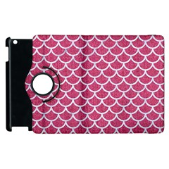 Scales1 White Marble & Pink Denim Apple Ipad 3/4 Flip 360 Case
