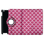 SCALES1 WHITE MARBLE & PINK DENIM Apple iPad 3/4 Flip 360 Case Front