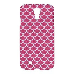 Scales1 White Marble & Pink Denim Samsung Galaxy S4 I9500/i9505 Hardshell Case