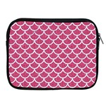 SCALES1 WHITE MARBLE & PINK DENIM Apple iPad 2/3/4 Zipper Cases Front
