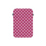 SCALES1 WHITE MARBLE & PINK DENIM Apple iPad Mini Protective Soft Cases Front