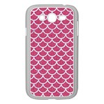 SCALES1 WHITE MARBLE & PINK DENIM Samsung Galaxy Grand DUOS I9082 Case (White) Front