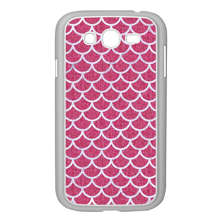 SCALES1 WHITE MARBLE & PINK DENIM Samsung Galaxy Grand DUOS I9082 Case (White)