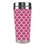 SCALES1 WHITE MARBLE & PINK DENIM Stainless Steel Travel Tumblers Right