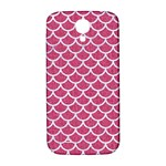 SCALES1 WHITE MARBLE & PINK DENIM Samsung Galaxy S4 I9500/I9505  Hardshell Back Case Front