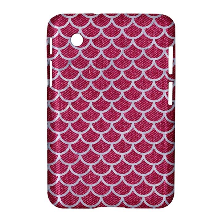 SCALES1 WHITE MARBLE & PINK DENIM Samsung Galaxy Tab 2 (7 ) P3100 Hardshell Case