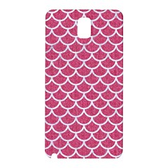 Scales1 White Marble & Pink Denim Samsung Galaxy Note 3 N9005 Hardshell Back Case