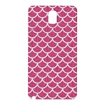 SCALES1 WHITE MARBLE & PINK DENIM Samsung Galaxy Note 3 N9005 Hardshell Back Case Front
