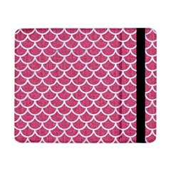 Scales1 White Marble & Pink Denim Samsung Galaxy Tab Pro 8 4  Flip Case