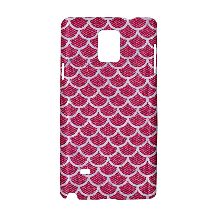 SCALES1 WHITE MARBLE & PINK DENIM Samsung Galaxy Note 4 Hardshell Case